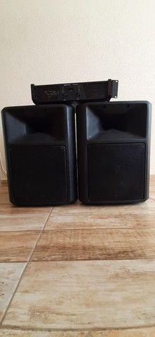 Kit amplificador + 2 caixas de som - Foto 2