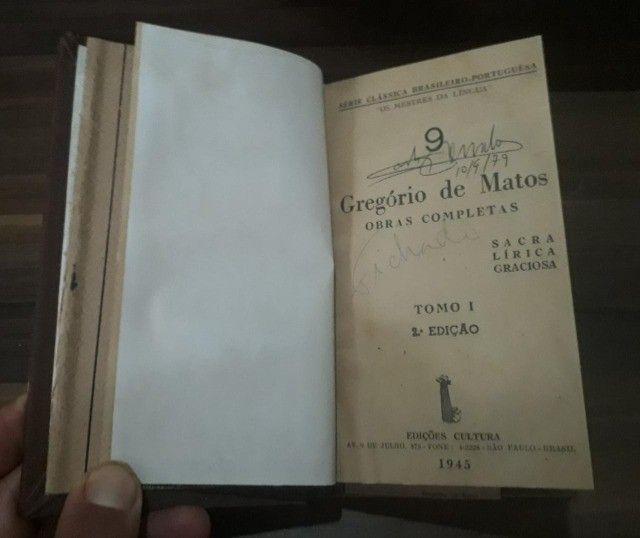 Gregório de Matos e Santa  Rita durão ( raridades do ano de 1945) - Foto 5