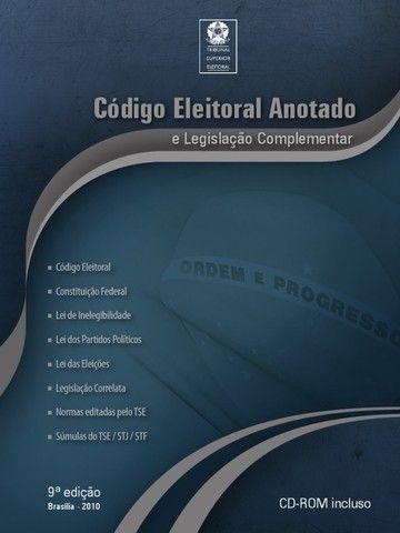 Livro Código Eleitoral Anotado E Legislação Complementar