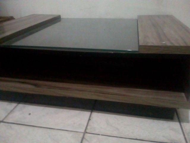 Centro de mesa de vidro