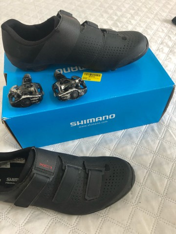 Sapatilha shimano + pedal clip - Foto 3
