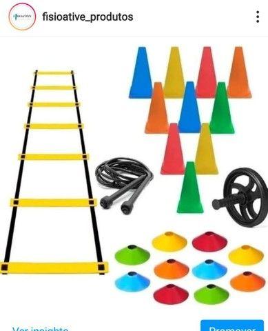Bola Pilates,mini cicle,kit multifuncional,escada,disco de equilibrio - Foto 4
