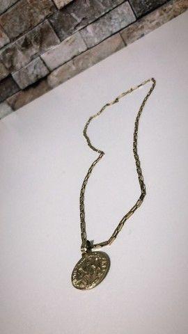 Corrente de ouro 18K com pingente 10 gramas  - Foto 3