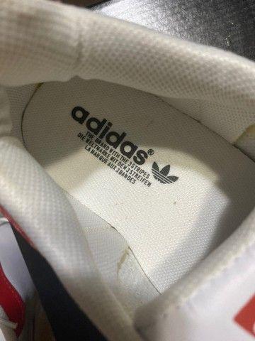 Tênis adidas superstar vermelho  - Foto 4