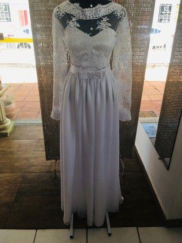 Vestido de noiva NOVO gazar e renda