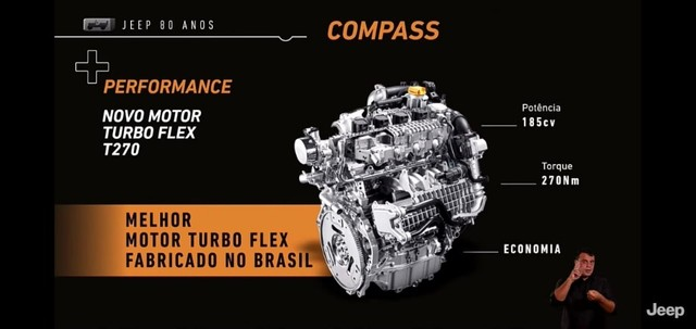 Novo Jeep Compass Sport 1.3 turbo flex 2022 SUV 185 cavalos PJ e PCD - Foto 5