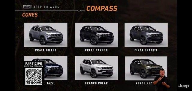 Novo Jeep Compass Sport 1.3 turbo flex 2022 SUV 185 cavalos PJ e PCD - Foto 15