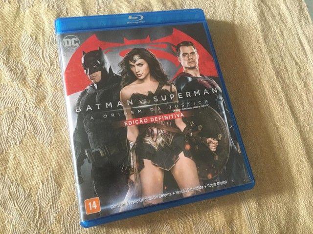 Blu-ray Batman vs Superman a origem da justiça duplo perfeito estado original