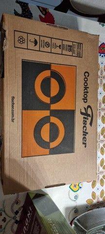 Cooktop Fisher 2 bocas (novo, na caixa)