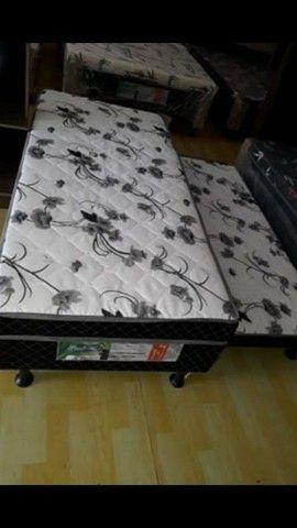 Cama box solteiro espuma com auxiliar - Novo - Foto 6