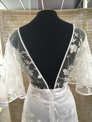 Vestido de noiva NOVO renda manga - Foto 4
