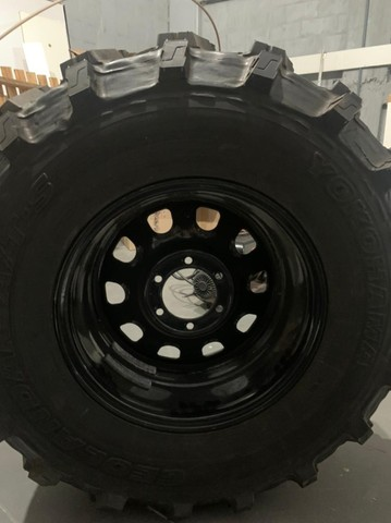 pneu rodas  para jeep willys trilha troller  - Foto 9