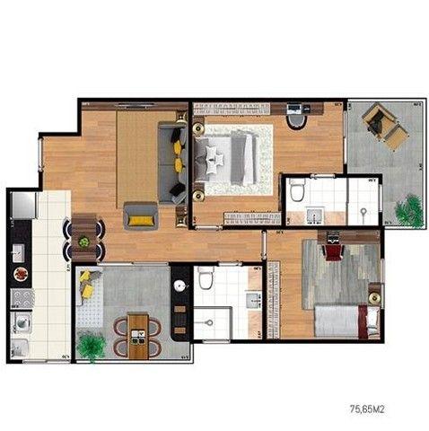 Apartamento 1 e 2 dorms no Aquarius - Foto 10