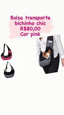 Bolsa transporte seu pet