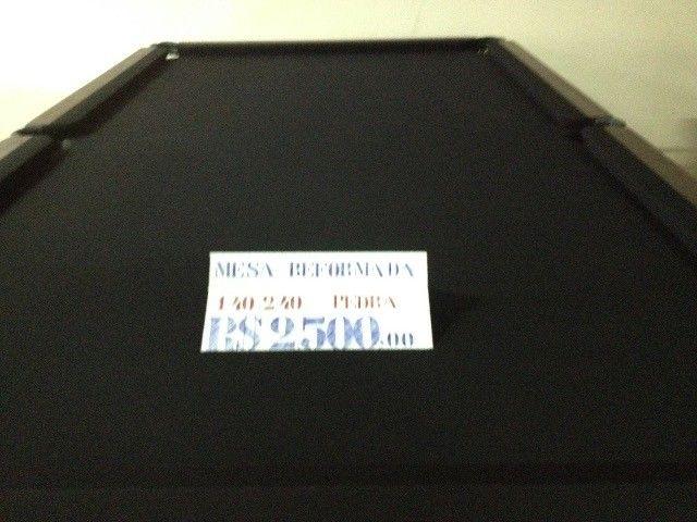 Mesa Bilhar / Sinuca 1,40 x 2,40 - Pano Preto - Foto 4