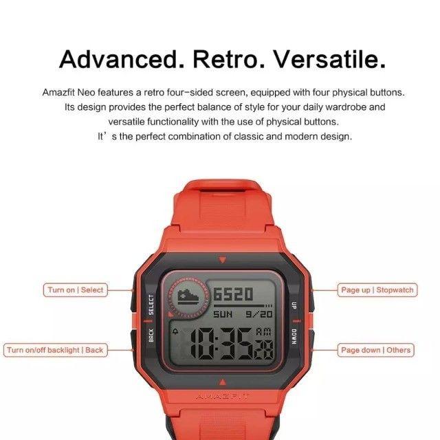 Amazfit Neo Smartwatch Xiaomi Retrô Versão Global Original Lacrado - Foto 4