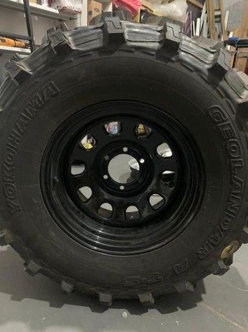 pneu rodas  para jeep willys trilha troller  - Foto 5