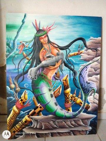 Vendo duas telas do Artista Amazonense Renomado - Foto 4