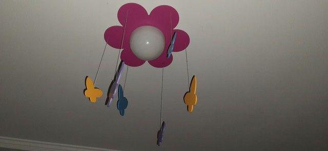 Luminária Flor e Borboletas - Foto 3