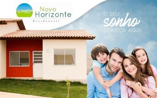 Casas prontas amplo quintal garagem onibus na porta financiamento caixa - Foto 20