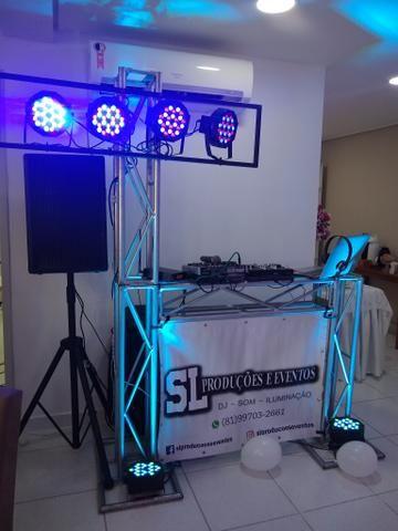 Dj - som - iluminação - confraternização - aniversário - Foto 3