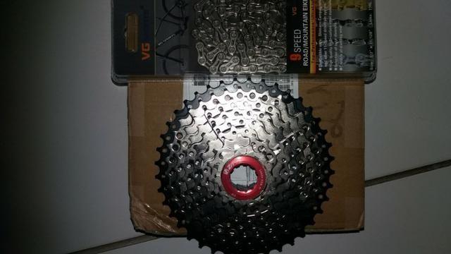 Kit Cassete 9 velocidade 11-40 e corrente
