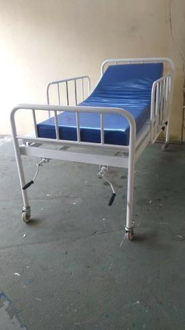 Cama Hospitalar 02 Manivelas 04 Movimentos Venda * - Foto 4