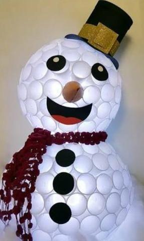 Boneco de Neve Copo Descartável
