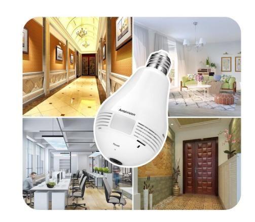 Lampada Câmera Espiã Segurança V360 Wifi Panorâmica B13 - Foto 6