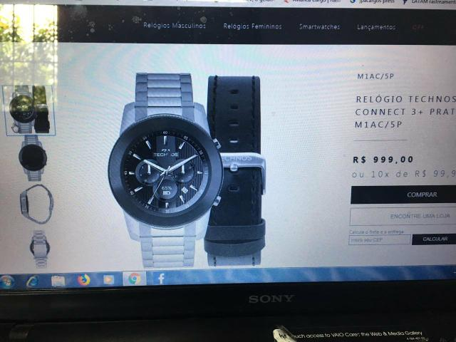 b8fcb8cbd662a Vendo troco Relógio Inteligente Masculino Technos Connect 3+, O smartwatch