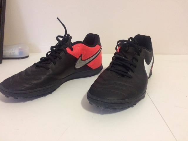 ef9fdae90e Chuteira Society Nike Tiempo X Esportes E Ginástica Victor