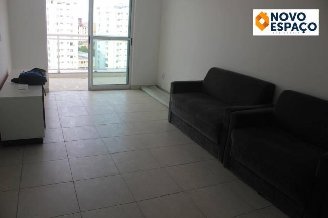 Apartamento com 2 dormitórios para alugar, 70 m² por R$ 1.000/mês - Centro - Campos dos Go - Foto 3