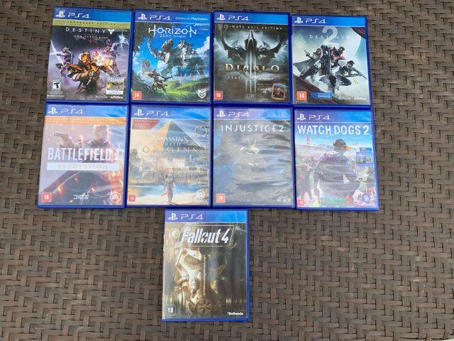 Ps4 branco edição especial Destiny + 5 jogos + Playstation Camera - Foto 2