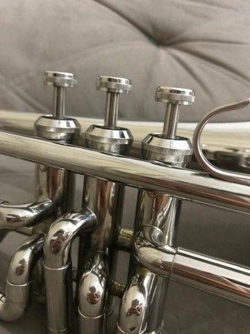 Trombone em sib shelter niquelado top  - Foto 6
