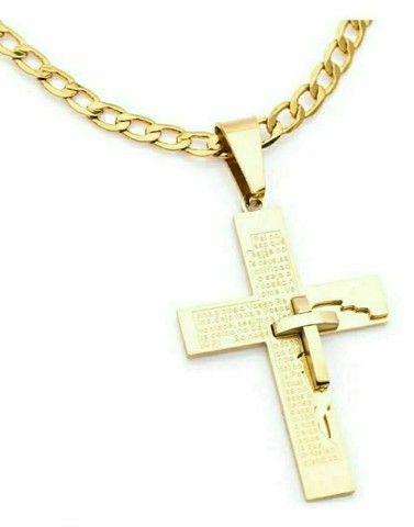 Cordão Pai nosso banhado a ouro