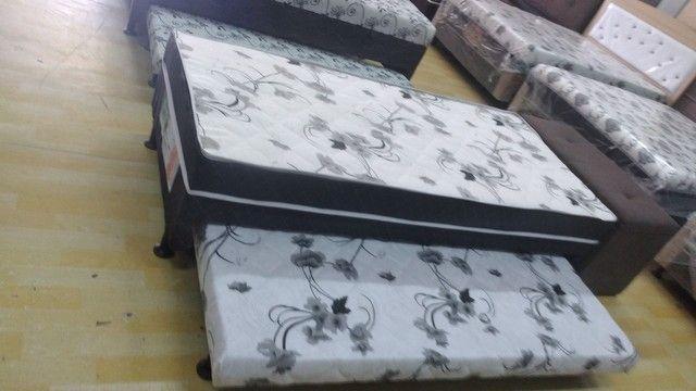 Cama box solteiro espuma com auxiliar - Novo - Foto 5