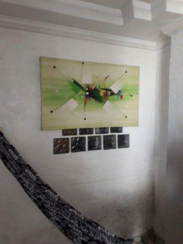 Quadros pintura em tela alto relevo estilo mosaico