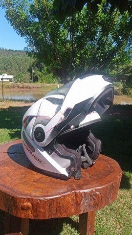 Capacete Norisk 370 escamoteável branco