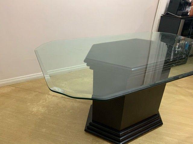 Mesa de jantar tampo de vidro retangular 1,60x1,00x0,78  - Foto 2