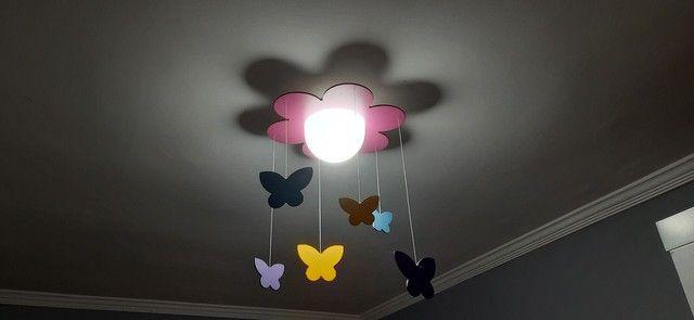 Luminária Flor e Borboletas - Foto 2