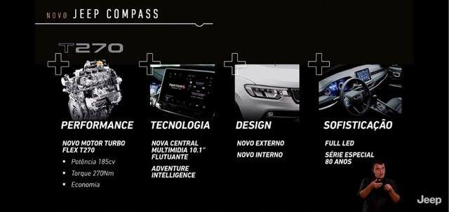 Novo Jeep Compass Longitude 1.3 turbo flex 2022. 185 cavalos. Exclusivo para PJ e PCD. - Foto 12
