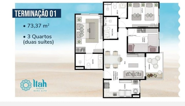 Apartamento com 2 dormitórios à venda, 56,29 m², 2andar,frente piscina, por R$ 650.000 - m - Foto 14