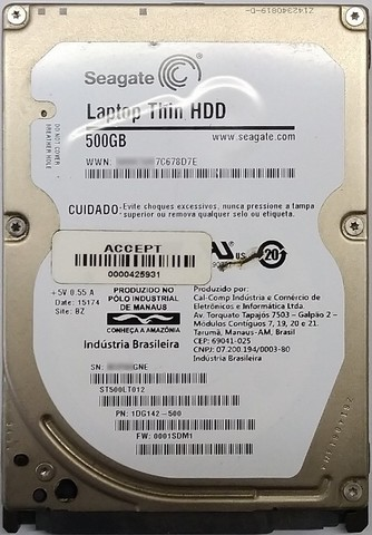 HD Sata 500 GB Notebook 2,5""