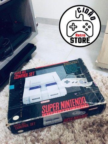 Caixa super Nintendo original isopor