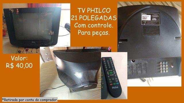 TV para peças.