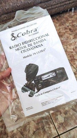 Rádio amador Cobra 19 Ultra III (3) + Antena top novos - Foto 5