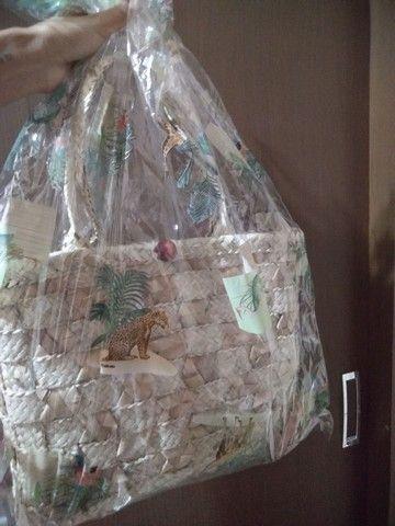 Bolsa de palha nova embalada - Foto 6