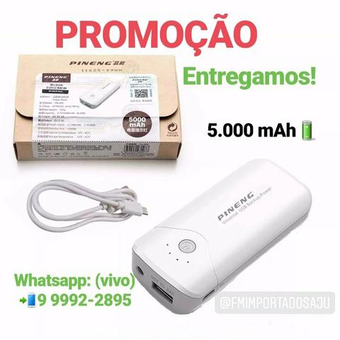 Carregador portátil bateria Power bank Pineng 5000 mAh