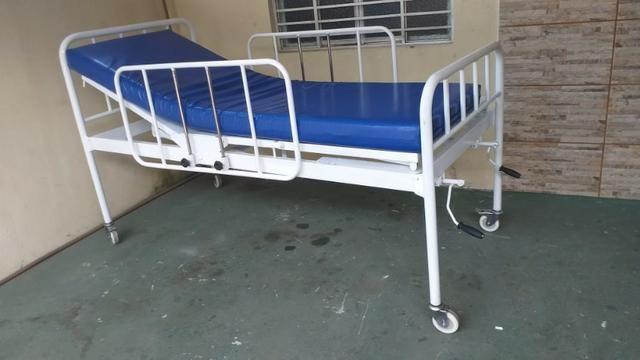 Cama Hospitalar 02 Manivelas 04 Movimentos Venda *