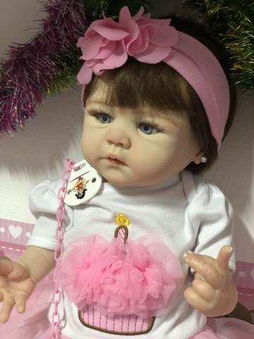 Bebê Reborn hiper realista de silicone parece de verdade - Foto 5